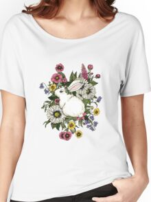 Rabbit in Flowers Women's Relaxed Fit T-Shirt
