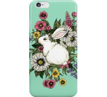 Rabbit in Flowers iPhone Case/Skin