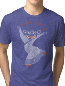 Ghost Tiger Juggler with Red Shoes Tri-blend T-Shirt