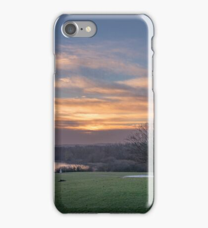 Dawn at the Peace Pagoda iPhone Case/Skin