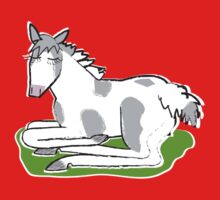 Reclining Gypsy Cob Foal Kids Clothes