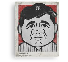 Babe Ruth Caricature Canvas Print