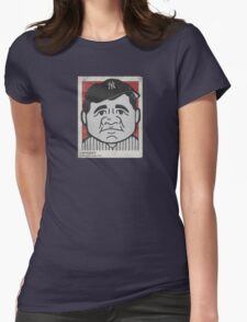 Babe Ruth Caricature Womens Fitted T-Shirt