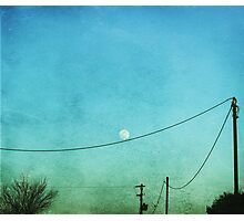 playful(l) moon Photographic Print