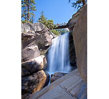 Unnamed Waterfall Between Vernal & Nevada Falls Photographic Print
