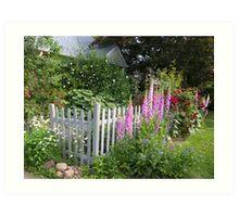 New England Cottage Garden Art Print