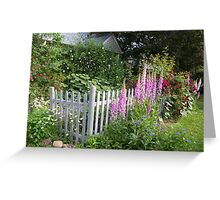 New England Cottage Garden Greeting Card