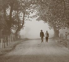 walking in the fog by Christopher  Ewing