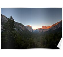 Looking East at Sunset, Yosemite Valley Poster