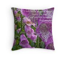 Foxgloves in Cottage Garden Throw Pillow