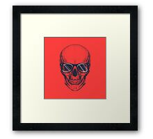 Hipster skull with glasses  Framed Print