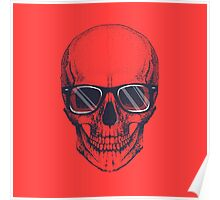 Hipster skull with glasses  Poster