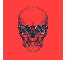 Hipster skull with glasses  Photographic Print