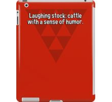 Laughing stock: cattle with a sense of humor. iPad Case/Skin