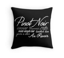 Pinot Noir - White Throw Pillow