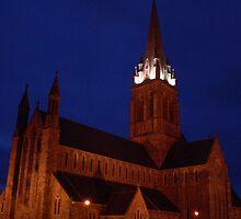 Killarney Cathedral at Dusk,Co.Kerry,Ireland,#1 by Pat Duggan