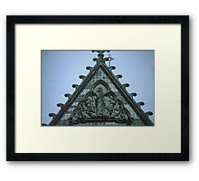 Christ triumphant on top of facia Nidaros Trondheim Norway 198406220014 Framed Print