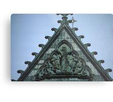 Christ triumphant on top of facia Nidaros Trondheim Norway 19840622 0014 Metal Print