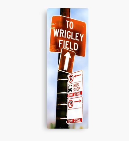 this way to wrigley field Canvas Print