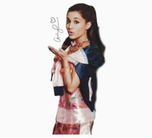Ariana Grande Autographed Photography T-Shirt Kids Clothes