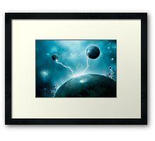 Galactic Lightning Framed Print