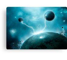 Galactic Lightning Canvas Print