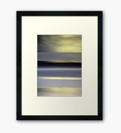 I Want to Live on an Abstract Plane Framed Print