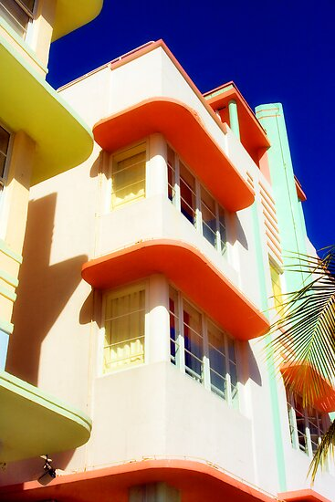 art deco, south beach by brian gregory