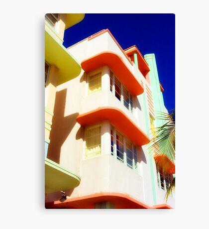 art deco, south beach Canvas Print