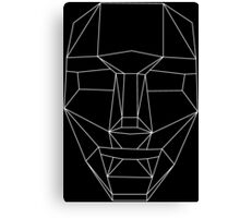White wire-frame mask Canvas Print