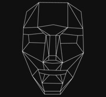 White wire-frame mask by Radioactivetar