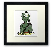 Socially Orcward Framed Print