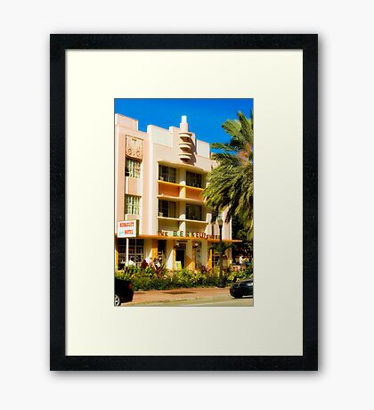 beverly shore hotel, south beach, florida Framed Print