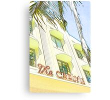 the carlyle hotel, south beach, florida Canvas Print