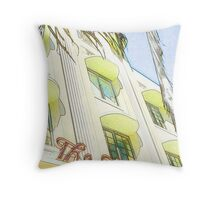 the carlyle hotel, south beach, florida Throw Pillow
