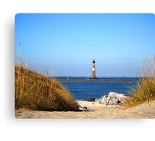 The Lighthouse on Morris Island Charleston Canvas Print