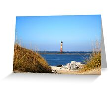 The Lighthouse on Morris Island Charleston Greeting Card