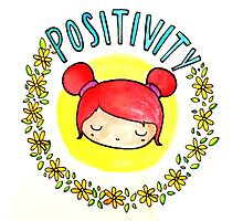 Positivity Kawaii Photographic Print