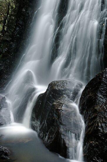 Beaver Meadow Brook Falls - Detail by Stephen Beattie