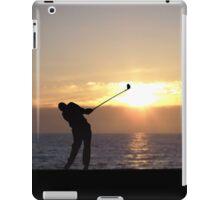 Playing Golf At Sunset iPad Case/Skin