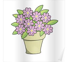 Pretty Potted Plant Poster