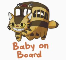 Catbus- Baby on Board One Piece - Long Sleeve