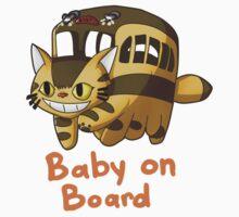 Catbus- Baby on Board Kids Tee