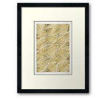 Tropical Gold Framed Print