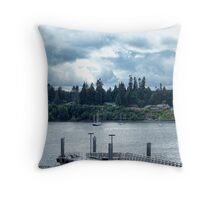 Leaving Kingston in the Dim Daylight Throw Pillow