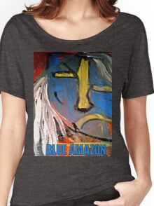 AMAZON BLUE Women's Relaxed Fit T-Shirt