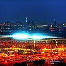 V I E W   B I G !!! SoccerCity / FNB Stadium @Night by JandeBeer