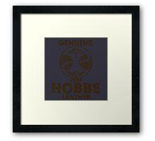 Albion Leather - Hobbe Framed Print