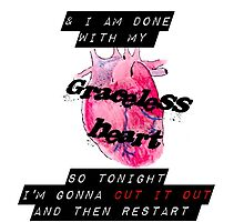 Graceless Heart [iPhone / iPod case / Tshirt / Print] by swelldame