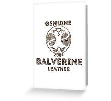 Albion Leather - Balverine Greeting Card